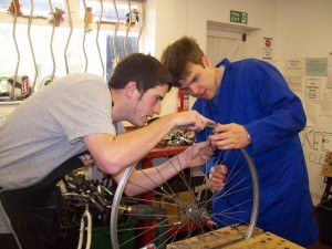 'When I first started, Will had to show me what to do. Every Thursday I use a spoke key. I can work on my own on wheels now and it feels great' Trainee, Thomas